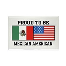 Proud Mexican American Rectangle Magnet