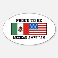 Proud Mexican American Oval Decal