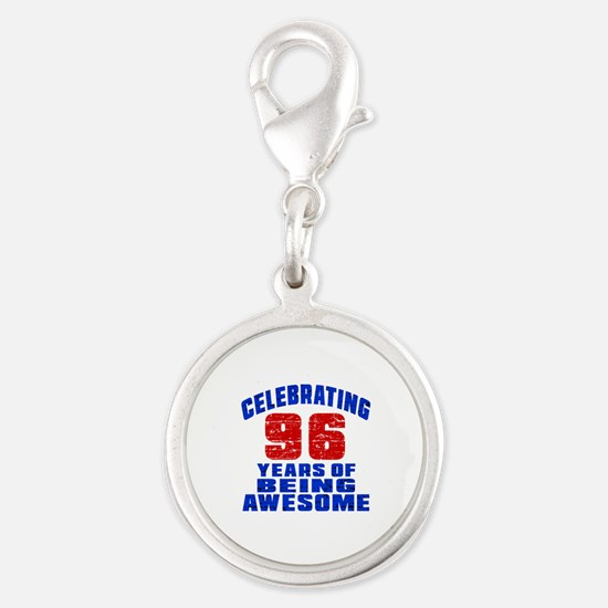 Celebrating 96 Years Of Being Silver Round Charm