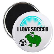 """I LOVE SOCCER 2.25"""" Magnet (100 pack)"""
