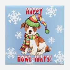 Holiday Parson Russell Tile Coaster