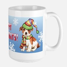 Holiday Parson Russell Large Mug