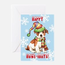 Holiday Parson Russell Greeting Card