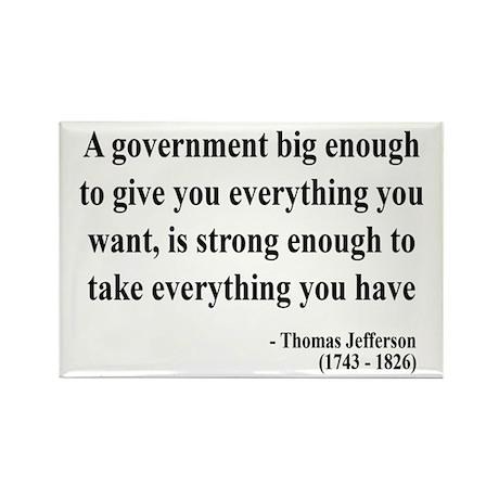 Thomas Jefferson Text 1 Rectangle Magnet (10 pack)