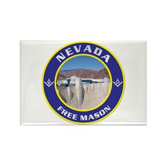 Nevada Freemasons Rectangle Magnet
