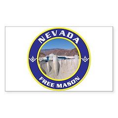 Nevada Freemasons Rectangle Decal