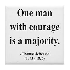 Thomas Jefferson 5 Tile Coaster