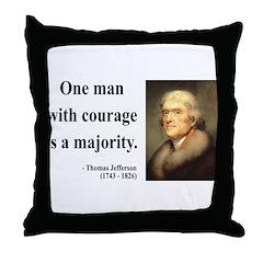 Thomas Jefferson 5 Throw Pillow
