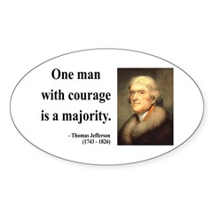 Thomas Jefferson 5 Oval Decal