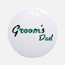 Airstream - Groom's Dad Ornament (Round)