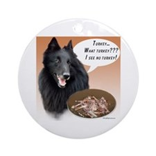 Belgian Sheep Turkey Ornament (Round)