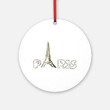 Eiffel tower Ornament (Round)