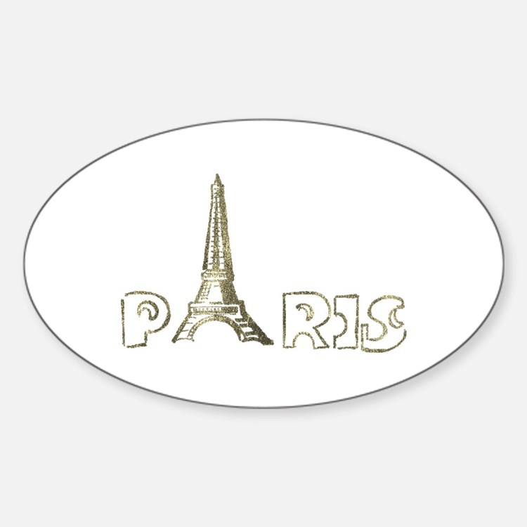 Eiffel tower Oval Decal