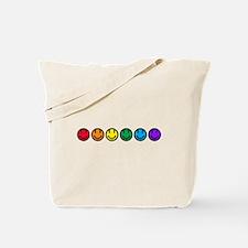 pride rainbow faces row Tote Bag