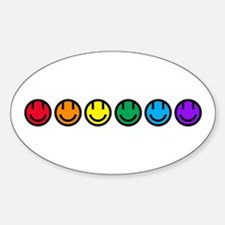 pride rainbow faces row Decal