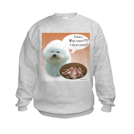 Bichon Turkey Kids Sweatshirt
