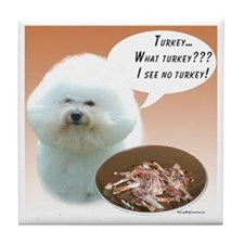 Bichon Turkey Tile Coaster