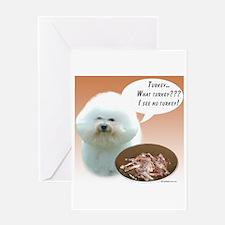 Bichon Turkey Greeting Card