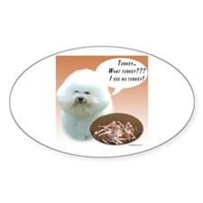 Bichon Turkey Oval Decal