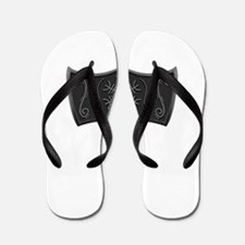 Viking Mjolnir White Flip Flops