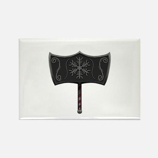 Viking Mjolnir White Magnets