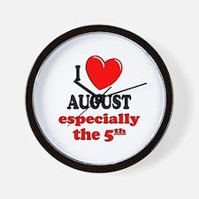 August 5th Wall Clock