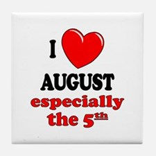 August 5th Tile Coaster