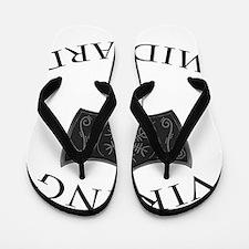 Viking Mjolnir Black Flip Flops