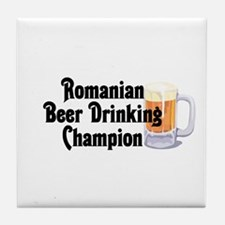 Romanian Beer Drinking Champ Tile Coaster