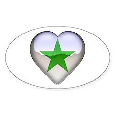 Verda Stelo Heart Oval Decal