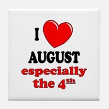 August 4th Tile Coaster