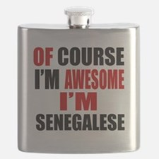 Of Course I Am Senegalese Flask