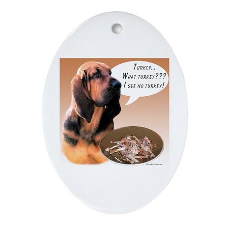 Bloodhound Turkey Oval Ornament