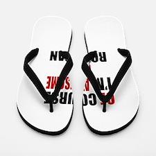 Of Course I Am Romanian Flip Flops