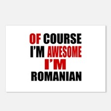Of Course I Am Romanian Postcards (Package of 8)