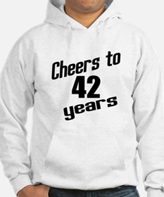 Cheers To 42 Years Hoodie