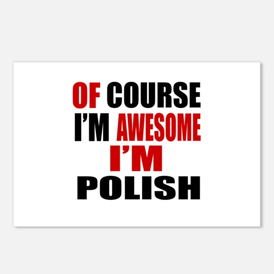 Of Course I Am Polish Postcards (Package of 8)