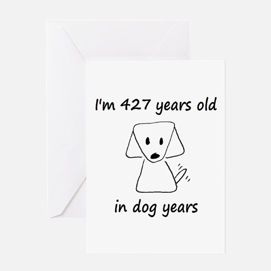61 Dog Years 6-2 Greeting Cards
