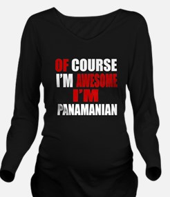 Of Course I Am Panam Long Sleeve Maternity T-Shirt