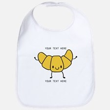 Croissant Gifts Cute Personalized Bib