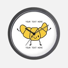 Croissant Gifts Cute Personalized Wall Clock