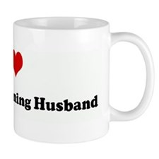 I Love Marathon Running Husba Mug