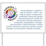 GLBT Equality Yard Sign