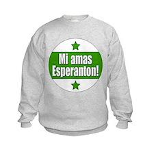 Mi Amas Esperanton Sweatshirt