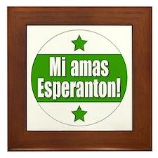 Mi Amas Esperanton Framed Tile