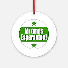 Mi Amas Esperanton Ornament (Round)