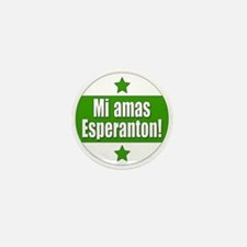 Mi Amas Esperanton Mini Button