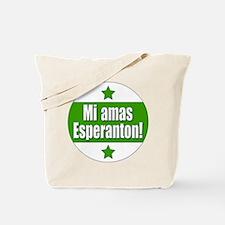 Mi Amas Esperanton Tote Bag