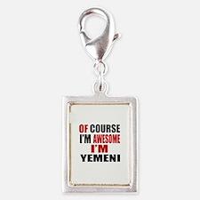 Of Course I Am Yemeni Silver Portrait Charm