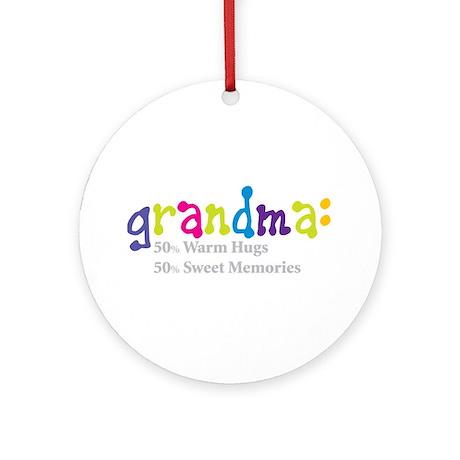 grandma warm hugs Ornament (Round)
